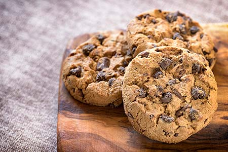 Cookies are small data files, and there are no pictures of them. These are chocolate chip cookies, and they look delicious.